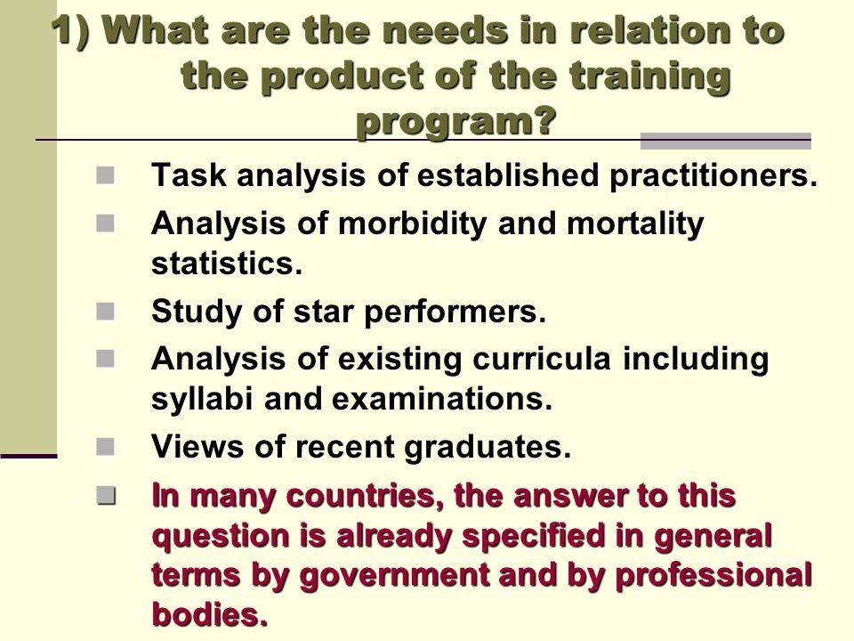 2) What are the aims and objectives.