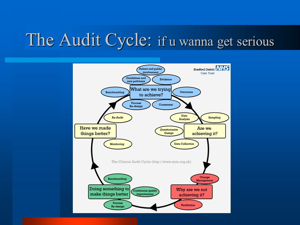 The Audit Cycle: if u wanna get serious