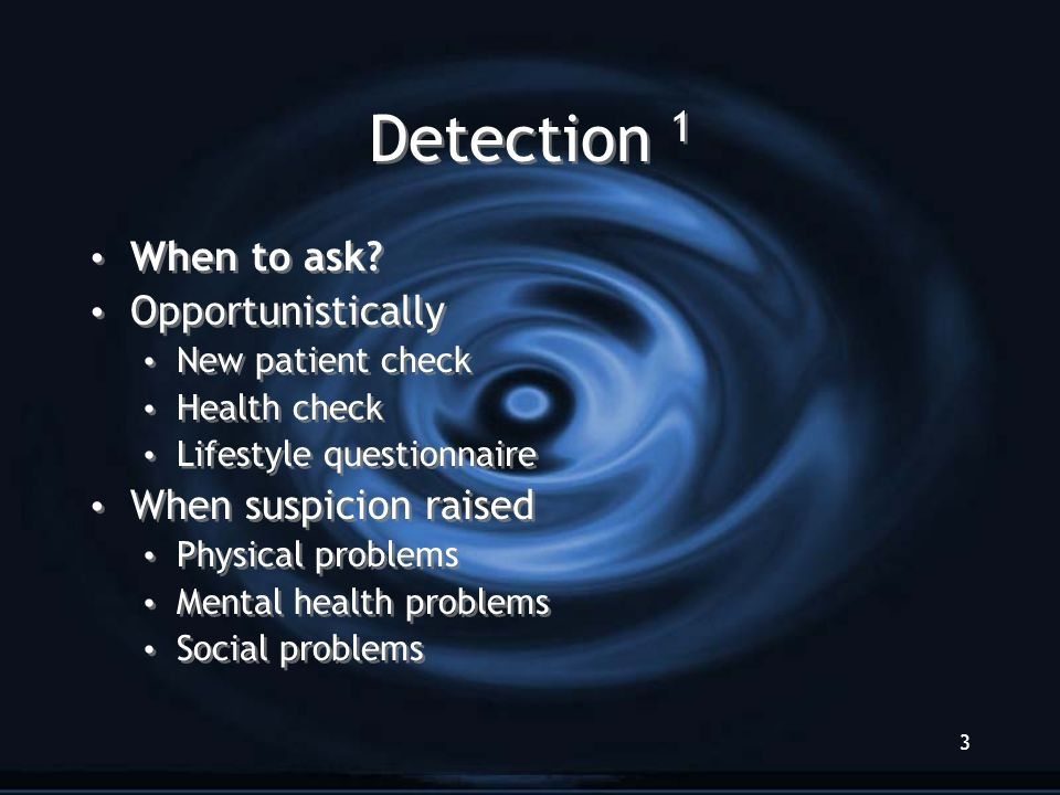 3 Detection 1 When to ask.