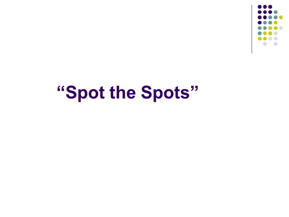 Spot the Spots