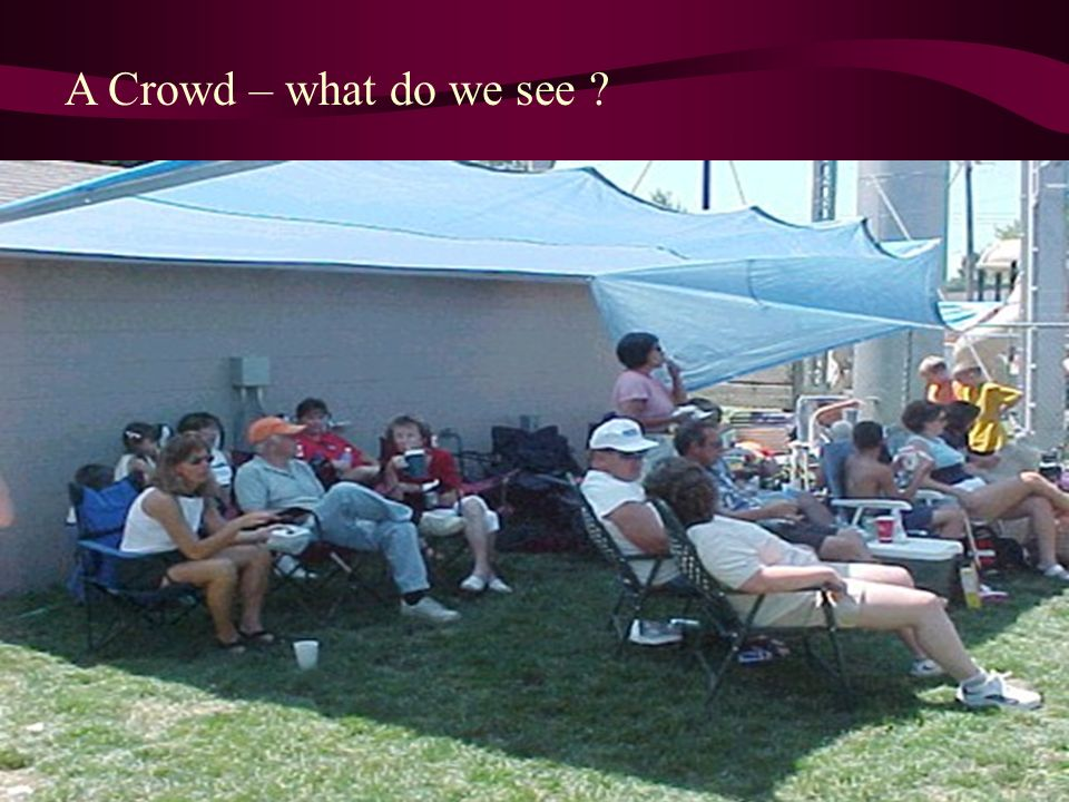 A Crowd – what do we see