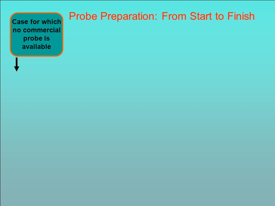 Probe Preparation: From Start to Finish Case for which no commercial probe is available