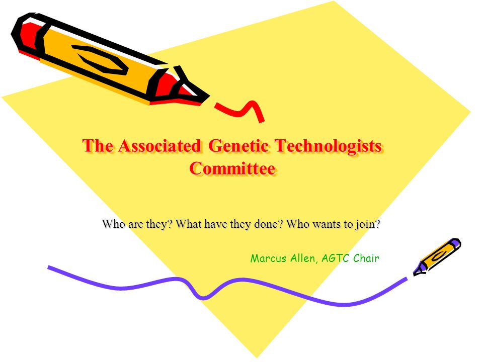 The Associated Genetic Technologists Committee Who are they.