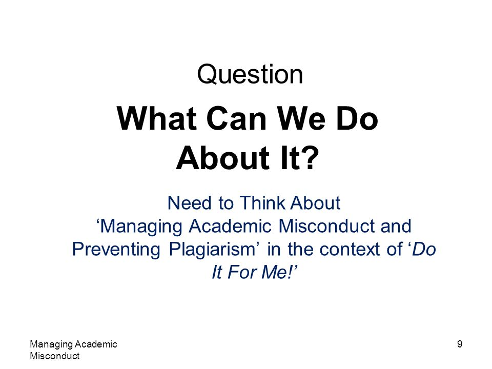 Managing Academic Misconduct 20 Stylometrics If an elderly and distinguished professor says that a technology isnt possible, theyre almost certainly wrong.