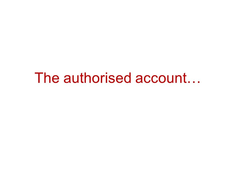The authorised account…