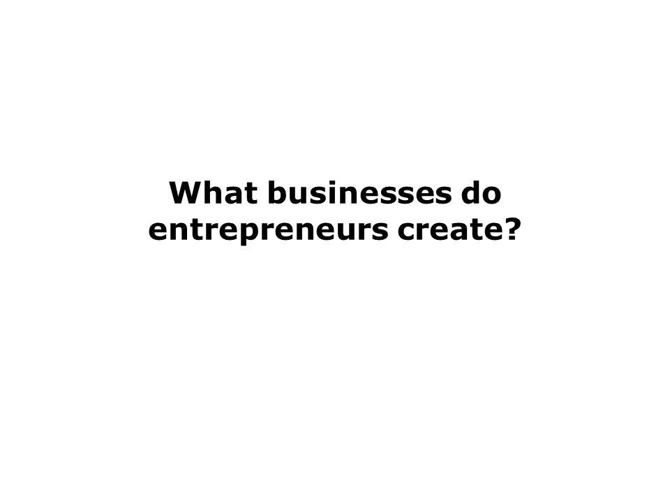 What businesses do entrepreneurs create?
