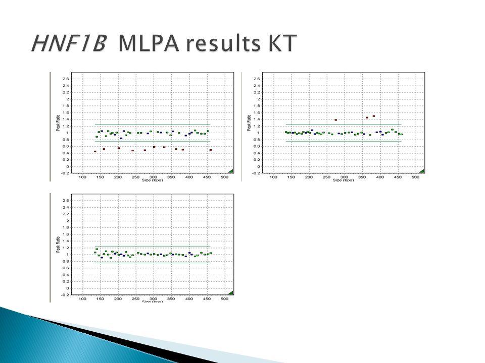 HNF1B MLPA results KT
