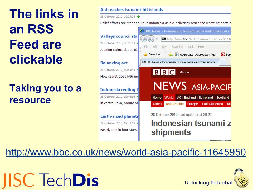 Unlocking Potential Adding an RSS Feed into Xerte Online Toolkits A page that updates itself