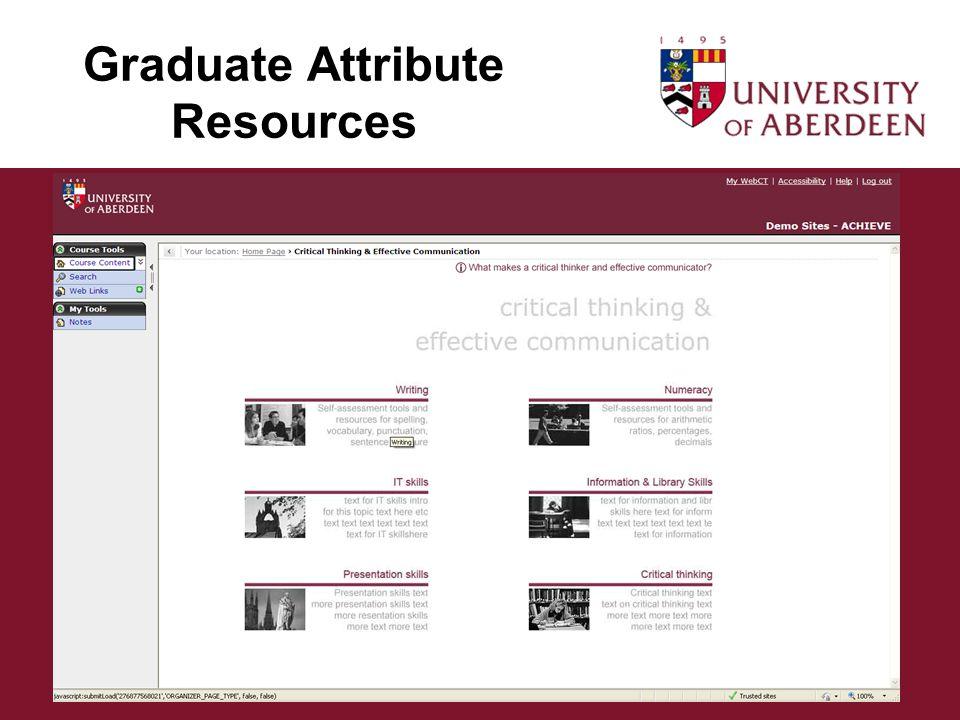 Graduate Attribute Resources