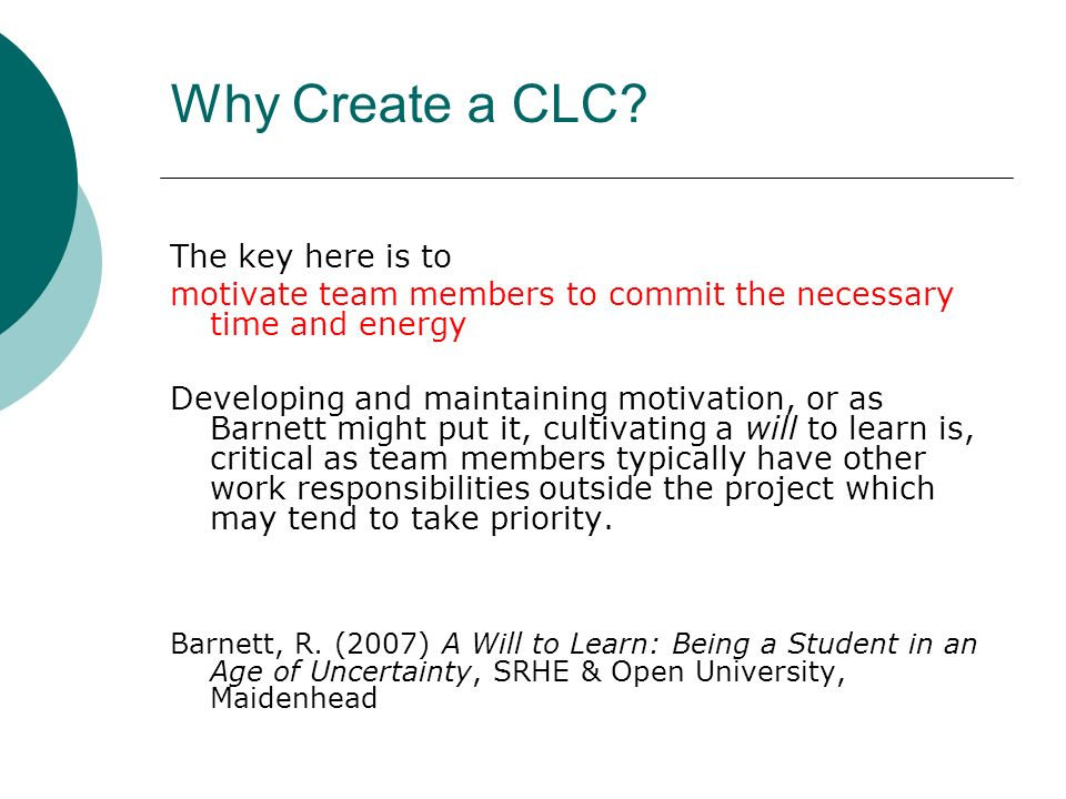Why Create a CLC.