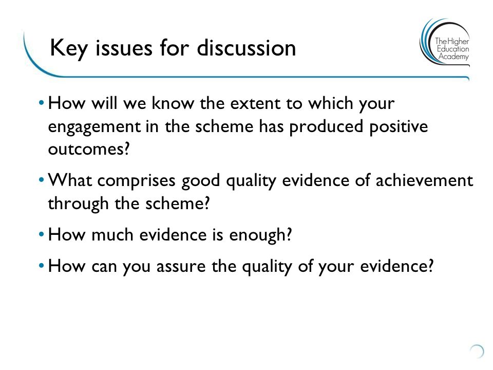 How will we know the extent to which your engagement in the scheme has produced positive outcomes.