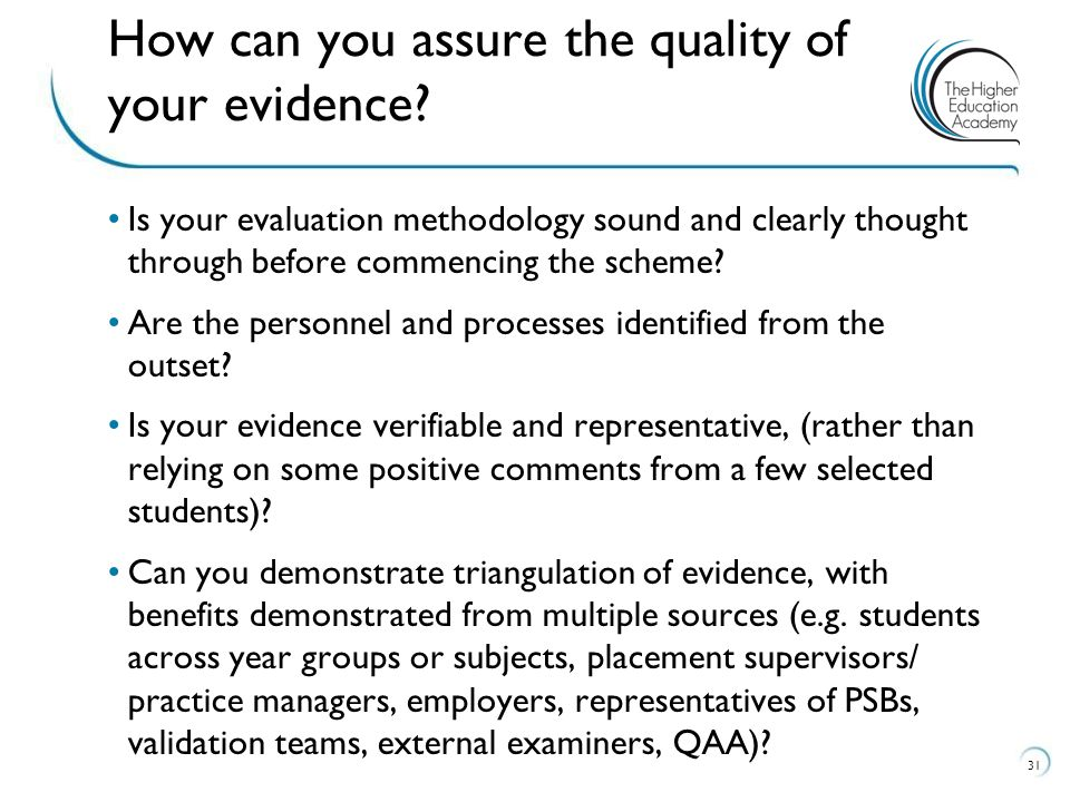 Is your evaluation methodology sound and clearly thought through before commencing the scheme.