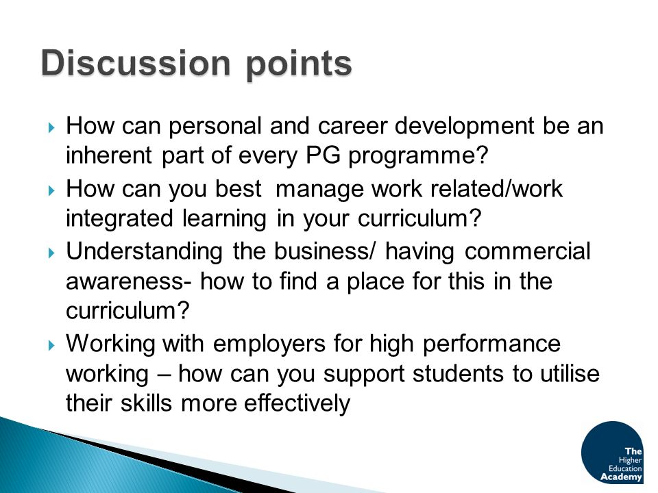 How can personal and career development be an inherent part of every PG programme.