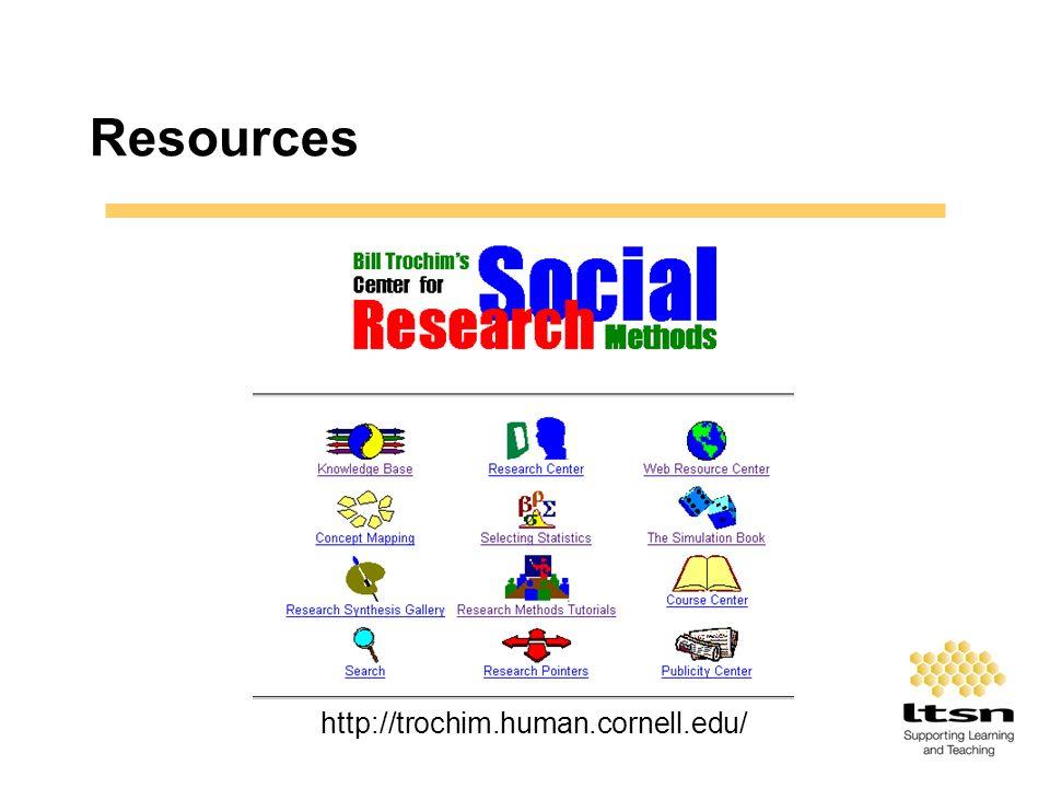 Resources http://trochim.human.cornell.edu/