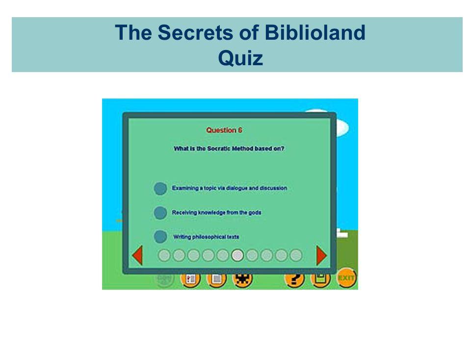 The Secrets of Biblioland Quiz