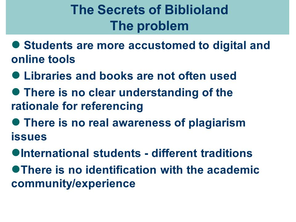 The Secrets of Biblioland in Second Life