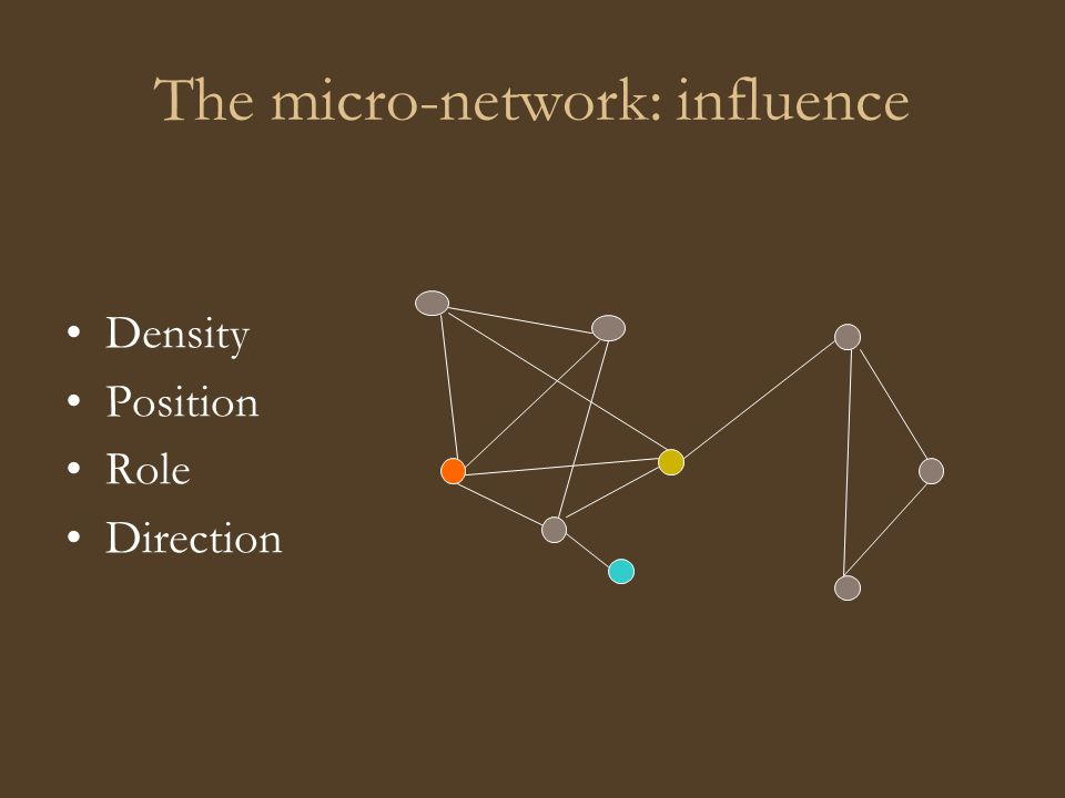 The micro-network: influence Density Position Role Direction