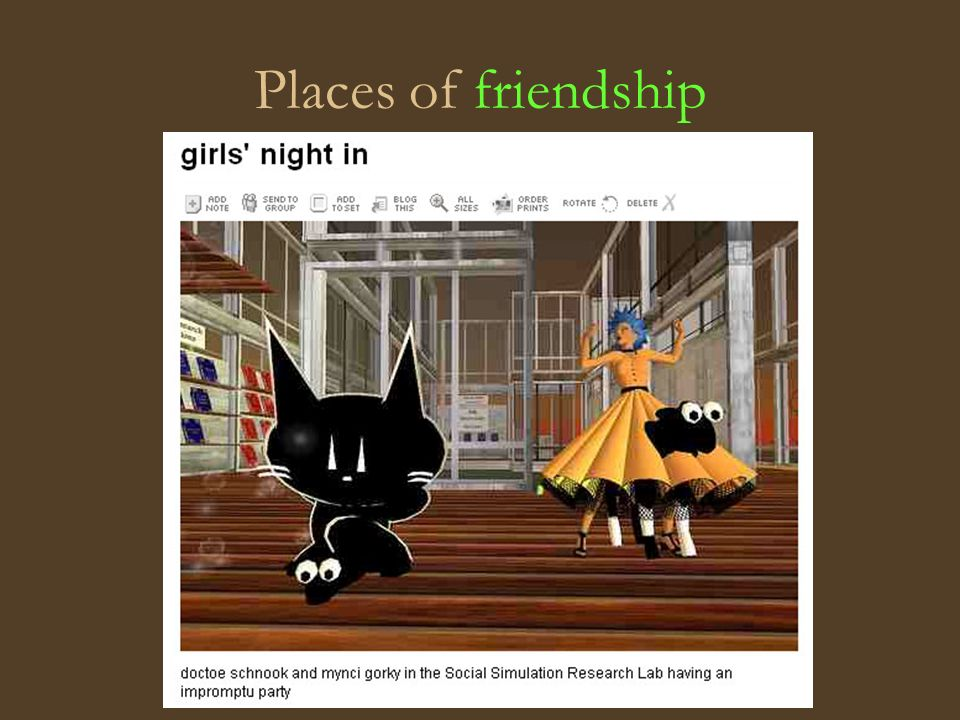 Places of friendship