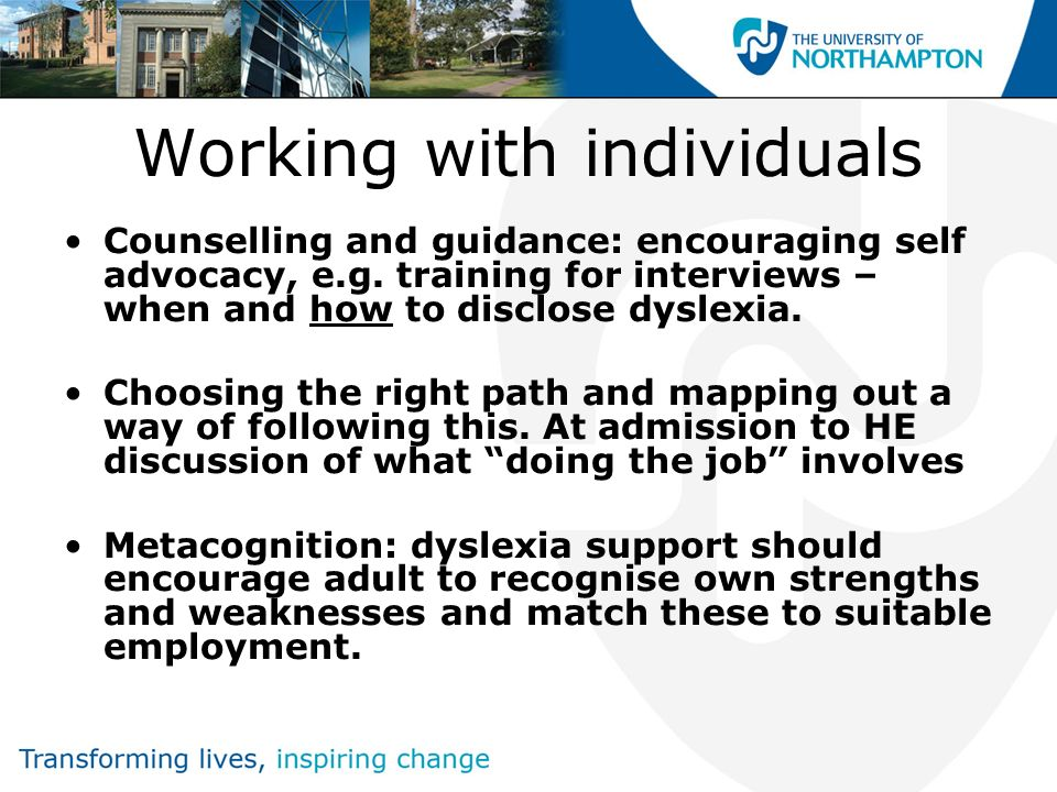 The need for extending inclusive practice Measuring competence at work – what criteria are used.