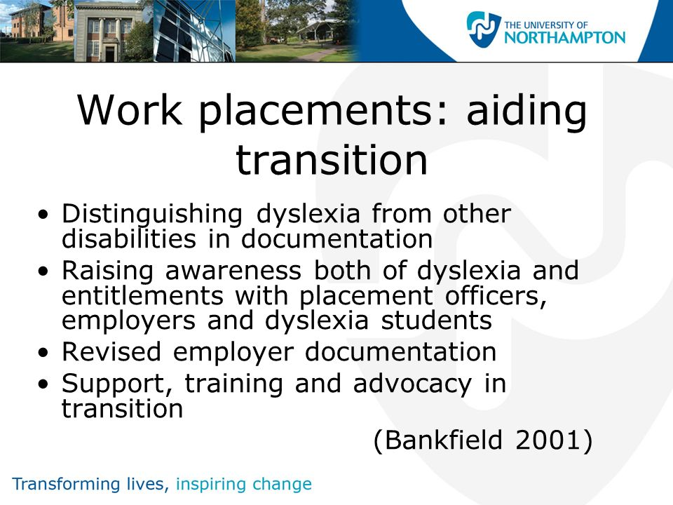 Supporting students in work placements An opportunity to bridge the gap between HE and work Key objective: engaging all stakeholders
