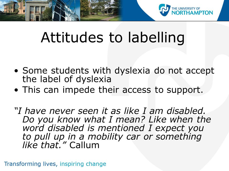 Applying for jobs During the interview process, I always disclosed my dyslexia in my application.