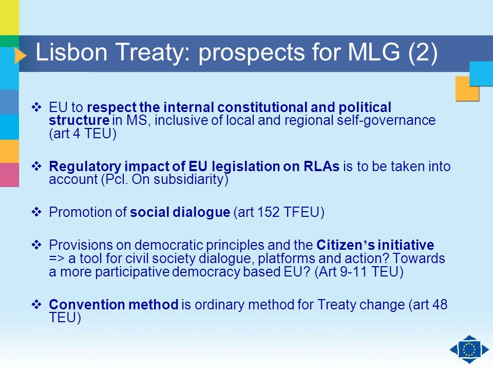 Click to edit Master title style Click to edit Master text styles Second level Third level Fourth level Fifth level 35 Lisbon Treaty: prospects for ML