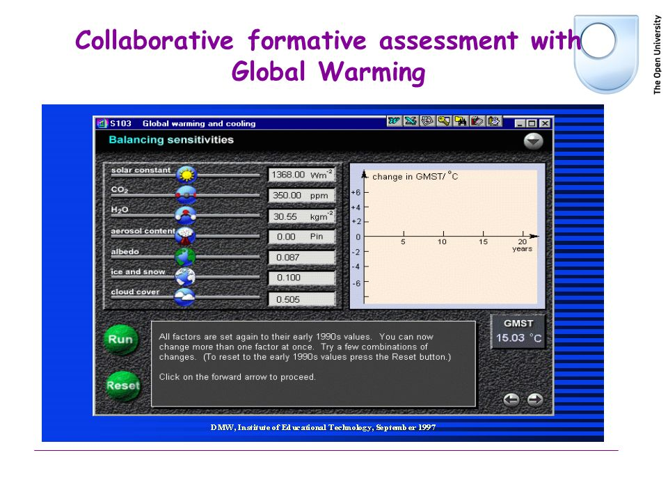 Collaborative formative assessment with Global Warming