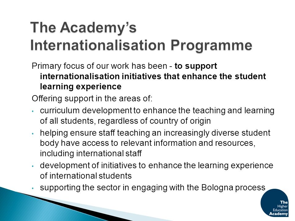 These activities are taken forward through a combination of UK-wide and Scottish/Welsh or discipline specific initiatives.