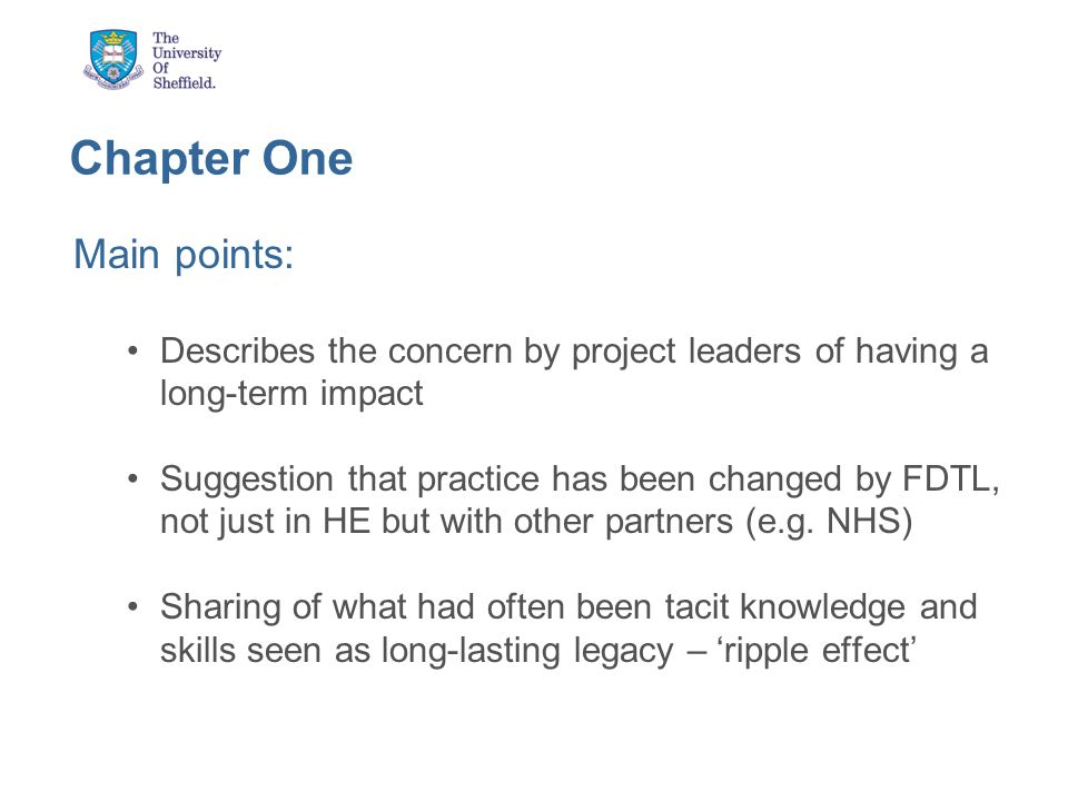 Chapter Two: Communities of Practice in FDTL Lesley Lawrence and Christopher Stokes Explores the impact a CoP can have at effecting change in an organisation Were CoPs evident in FDTL, how did they come about and did FDTL help them grow.