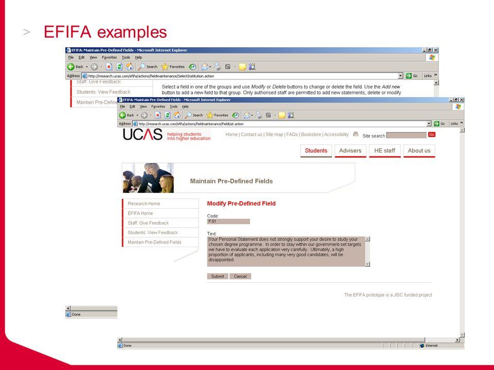 EFIFA examples