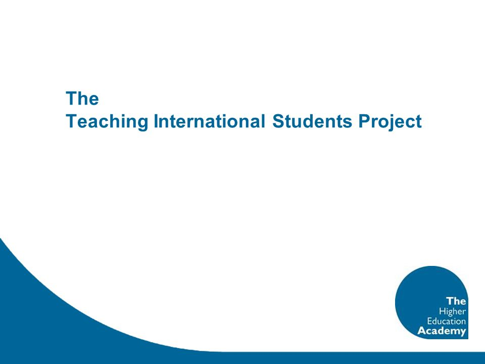 The Teaching International Students Project