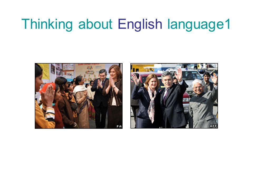Thinking about English language1