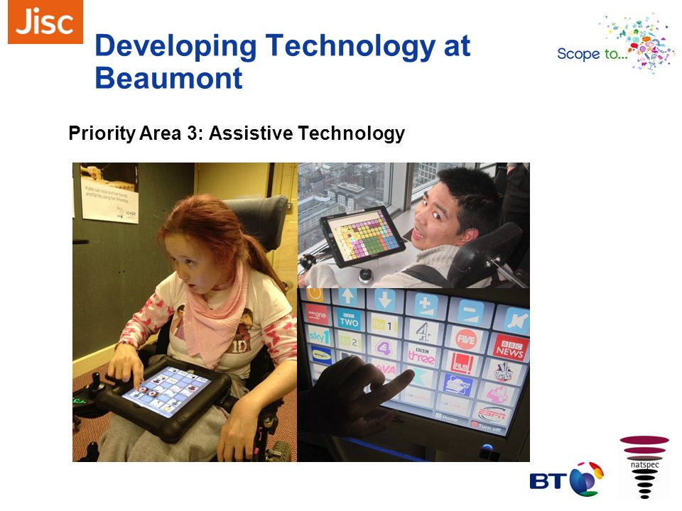Developing Technology at Beaumont Priority Area 3: Assistive Technology