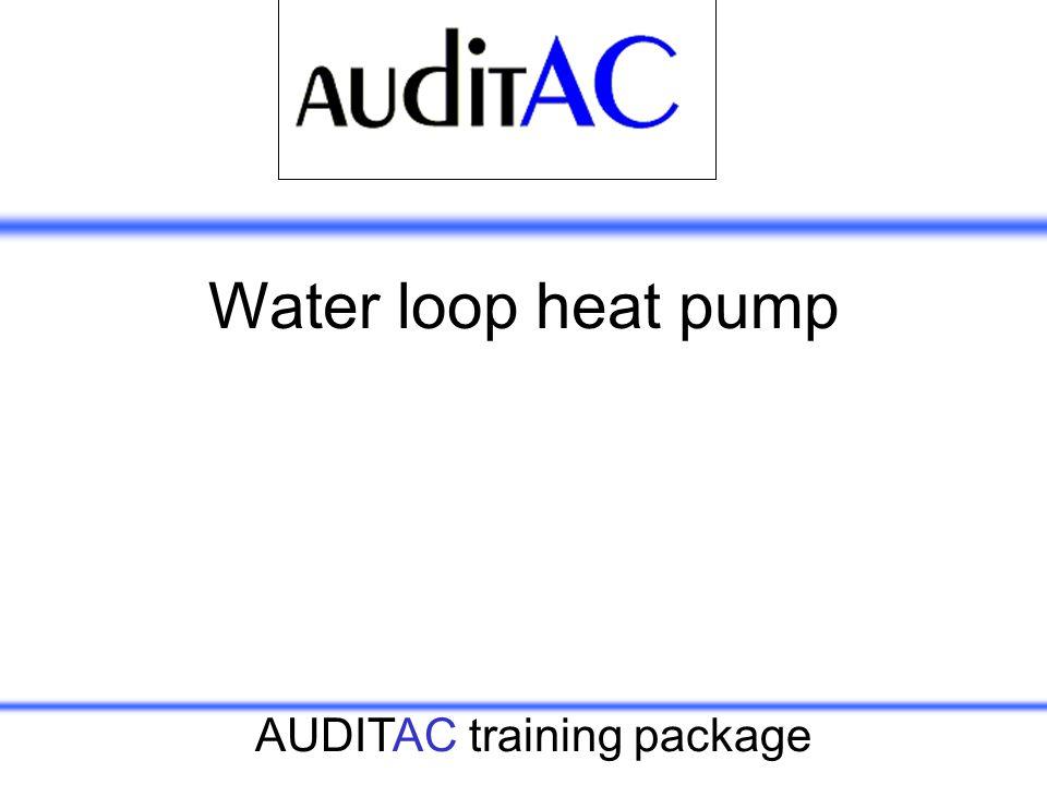 AUDITAC training package Water loop heat pump