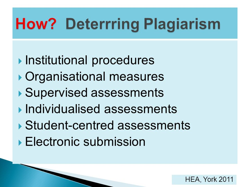 Institutional procedures Organisational measures Supervised assessments Individualised assessments Student-centred assessments Electronic submission H