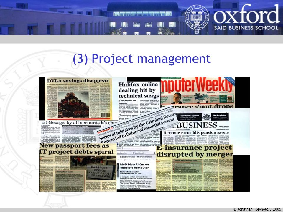 © Jonathan Reynolds, 2005 (3) Project management