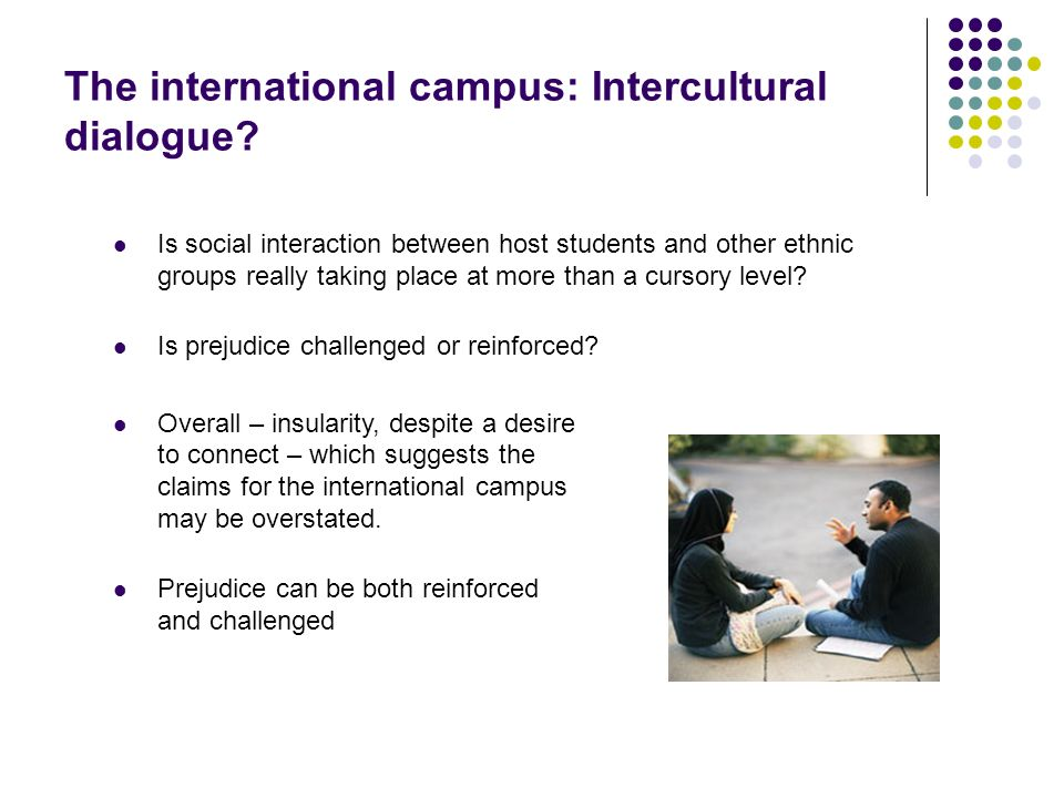 The international campus: Intercultural dialogue? Is social interaction between host students and other ethnic groups really taking place at more than