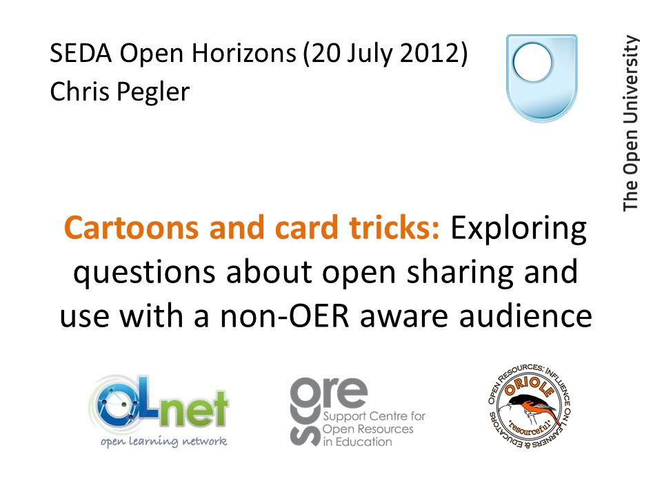 The Session Plan Brief overview of research Hands-on playing with cards De-brief and Q&A But its all pretty flexible …