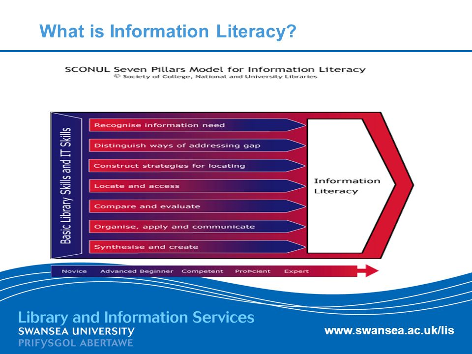 www.swansea.ac.uk/lis What is Information Literacy?