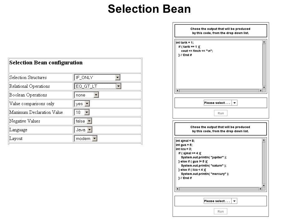 Selection Bean