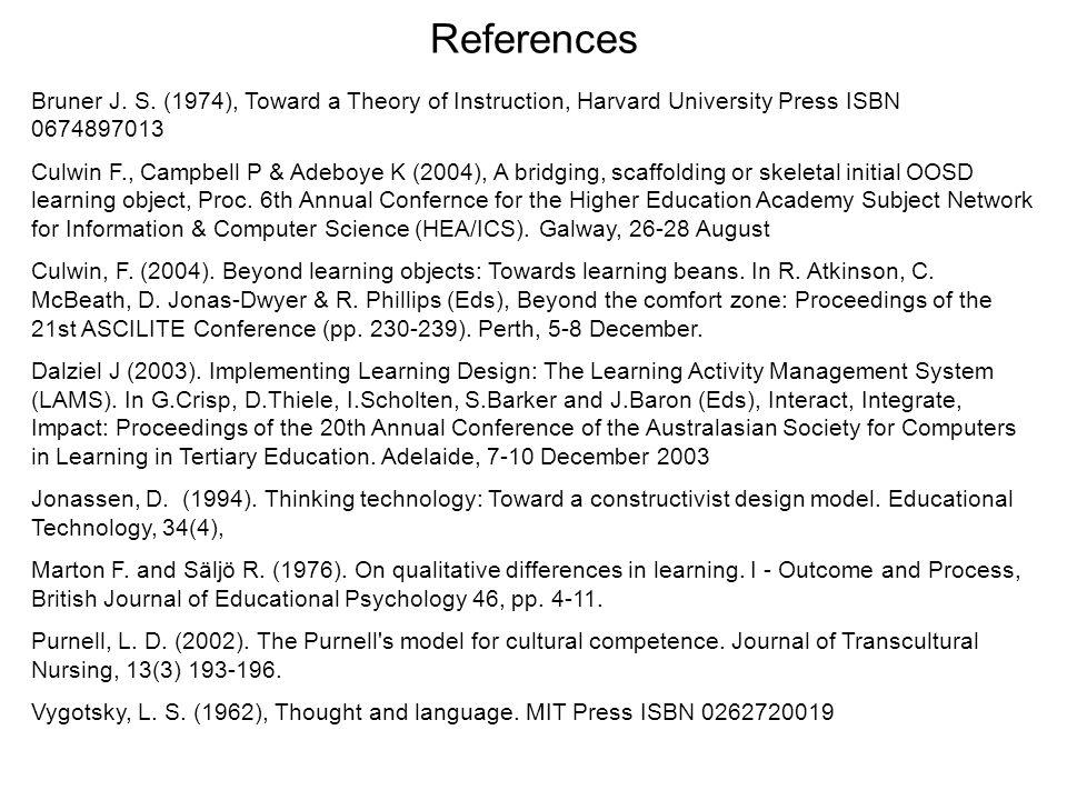 References Bruner J. S.