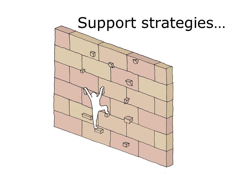 Support strategies…