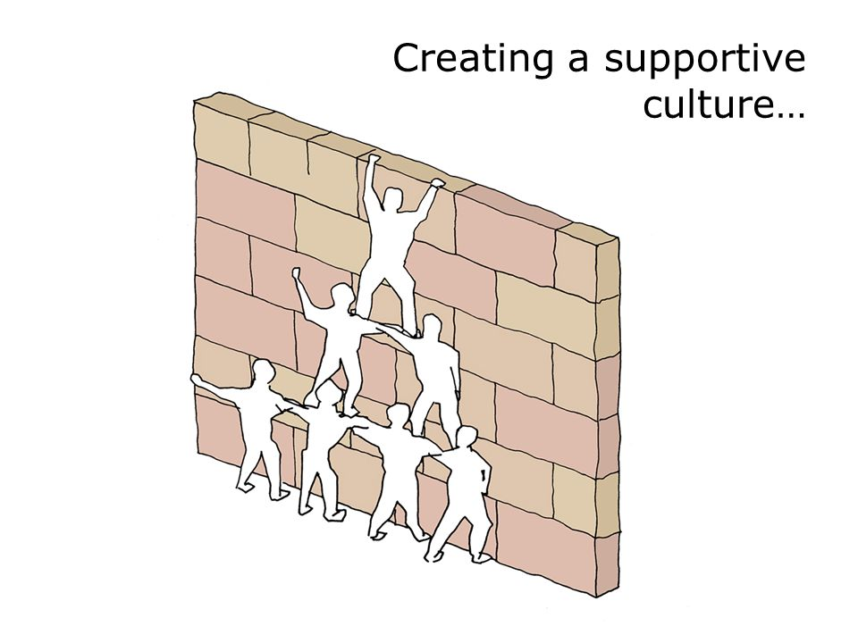 Creating a supportive culture…