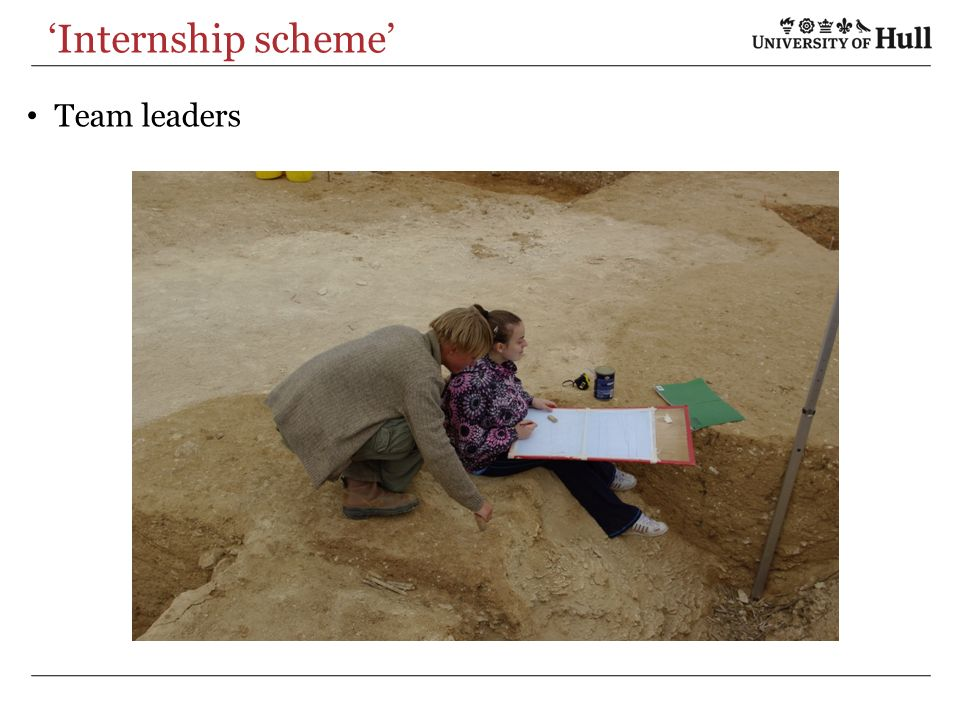 Internship scheme Team leaders