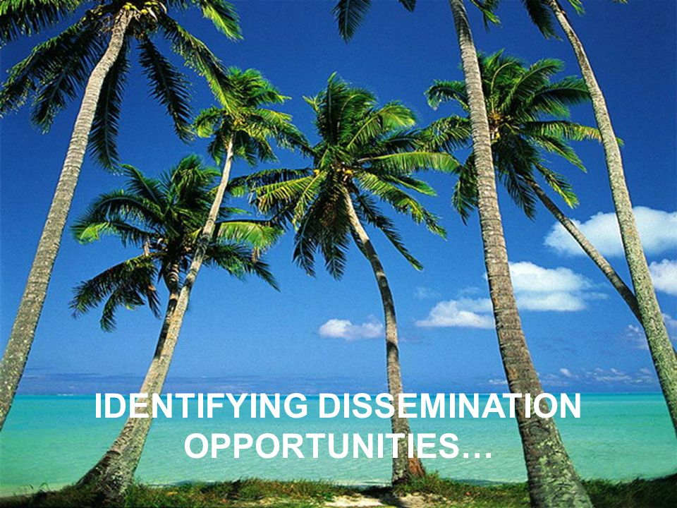 IDENTIFYING DISSEMINATION OPPORTUNITIES…
