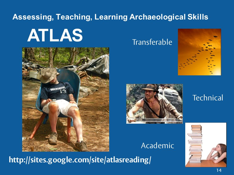 14 Assessing, Teaching, Learning Archaeological Skills ATLAS Transferable Technical Academic
