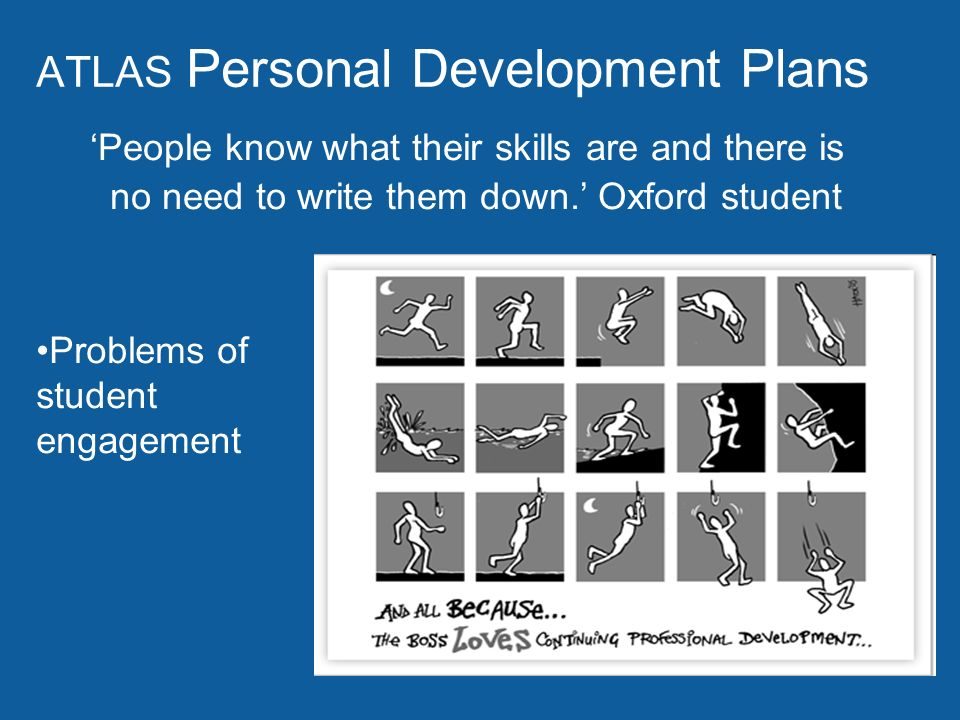 ATLAS Personal Development Plans People know what their skills are and there is no need to write them down.
