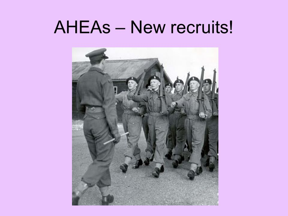 AHEAs – New recruits!