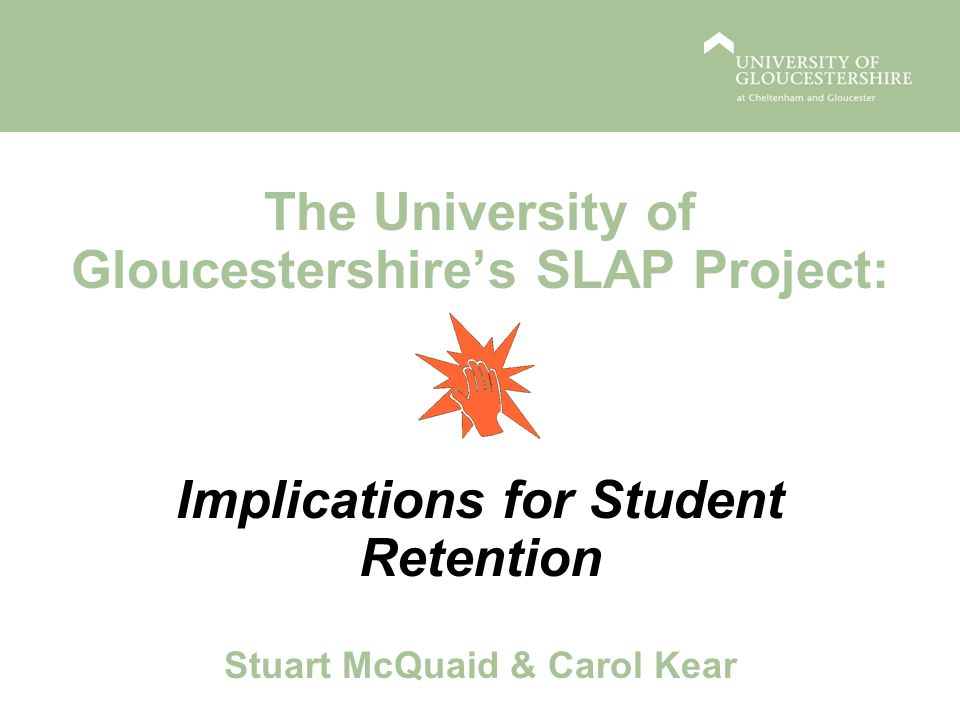 SLAP: Simplifying Learner Administration Processes The SLAP project arose from a broader University- commissioned Student Lifecycle project to reduce bureaucracy for both students and staff Amongst the recommendations identified were: review processes associated with the student life cycle starting with enquiry, application and enrolment; cross-university services should be developed to ensure consistency of service and avoidance of duplication