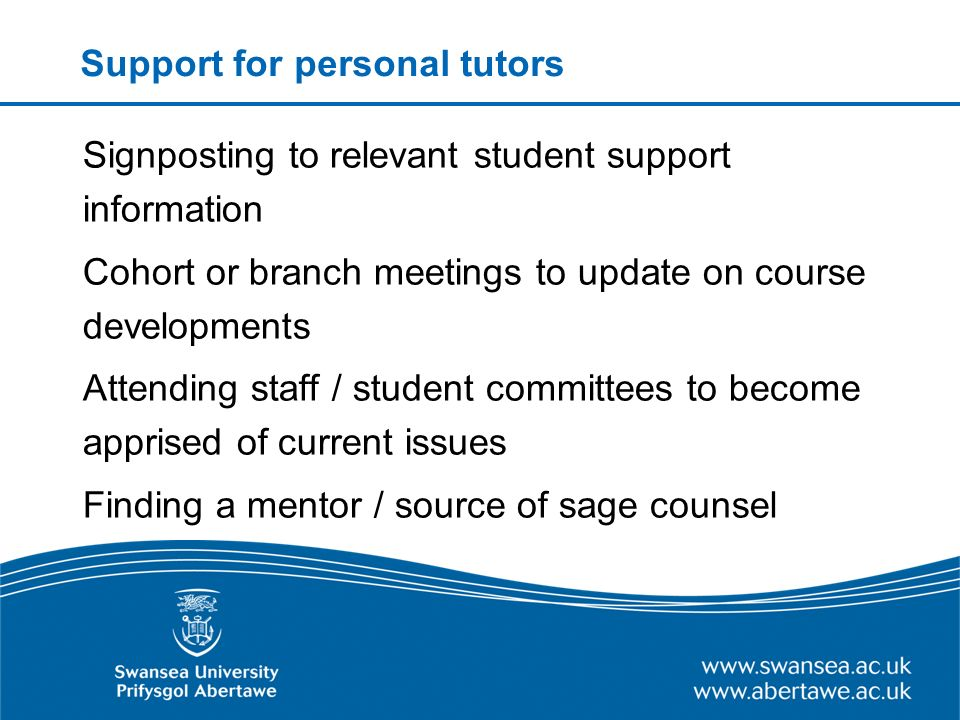 Student experiences of personal tutoring